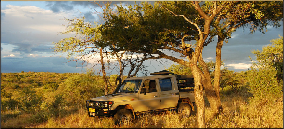 Malan Lambrechts uses this Landcruiser to drop off clients and collect the trophies